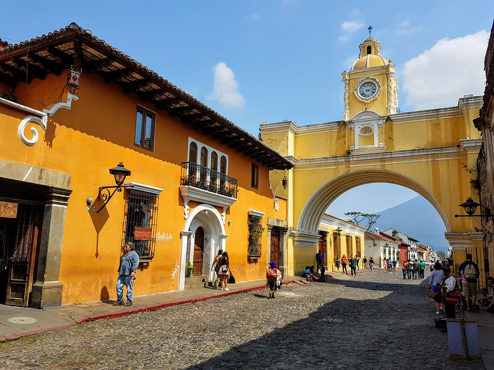 The Santa Catalina arch, connecting two parts of old Convent