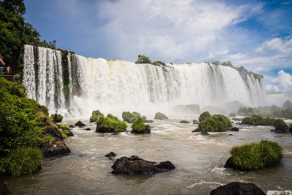 Enjoy scenic views of the falls from Brazilian side