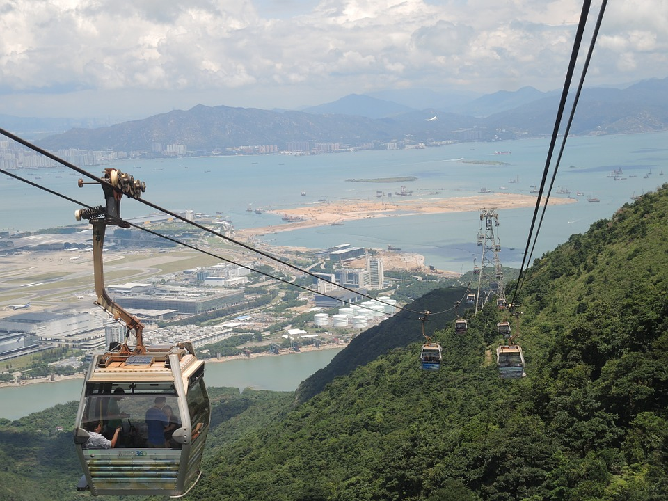 Enjoy the view as you ride the Ngong Ping Cable Car
